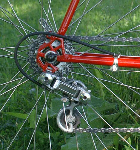 Gitane rear drop-outs and Simplex derailleur